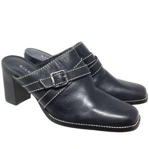 Gianni Bini Women Shoes Sz 9.5M Black Leather Clog